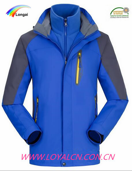 Longai colorful high quality snow jacket men and women ski jacket