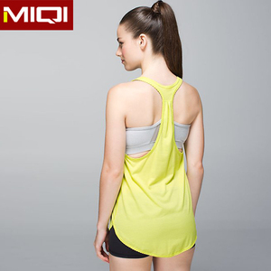High quality wholesale sports tank top Y shape lady custom gym tank top activewear wholesale