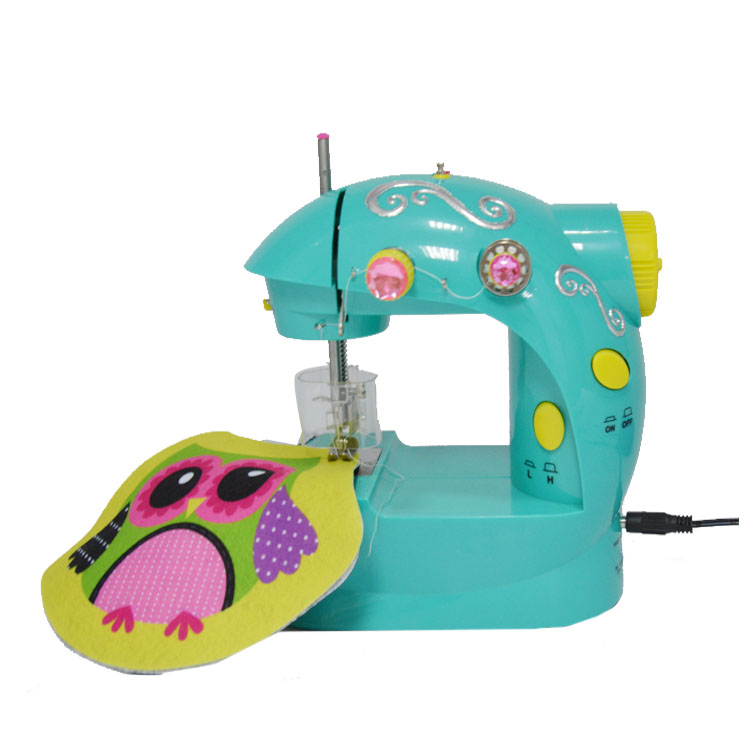Girl create toys electric sewing machine ,mini portable sewing machine kit