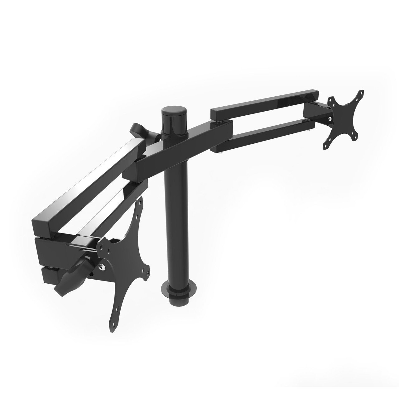 Versadesk Dual Arm Adjustable Spider LCD Monitor Arm, Swivel Motion Mount Stand - (Versadesk Power Pro) - Compatible with Versa Desks Only