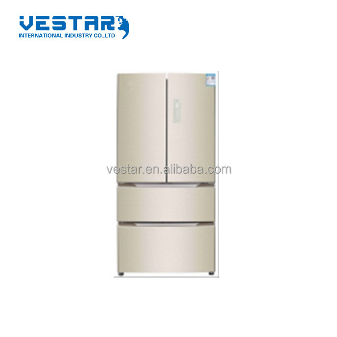 VRFG-420WPG-GD 2017/2018 new design refrigerant T climate class french refrigerator with glass full golden