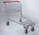 supermarket cargo trolley folding handle shopping trolley