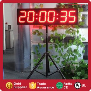 Large LED Sports Timer 6 Digit 8 Inch Display marathon race clock led timer sports timer display