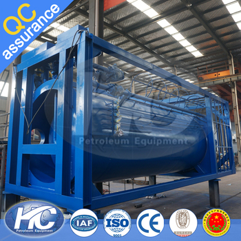 High Pressure Buffer Tank / Crude Oil Buffer Tank With Two Double ...