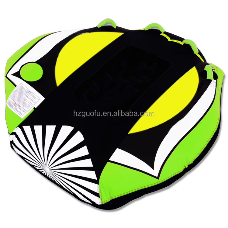 Customized PVC 1Rider Inflatable Water Ski Towable Tube with Nylon Cover