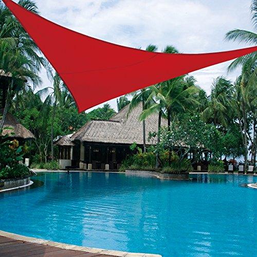 BURGUNDY-Sun Shade Sail UV Top Cover Canopy 12'X12'X12' Triangle for Outdoor Patio Lawn Backyard