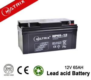 matrix batteries 12v 65ah agm or gel vrla sealed lead acid batery for solar systems