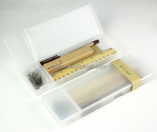 Eco Office Stationery Accessories in Clear Plastic Pencil Box