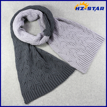 Hzw 16011004 Newest Fancy Two Color Men Scarf Knitting Pattern Buy