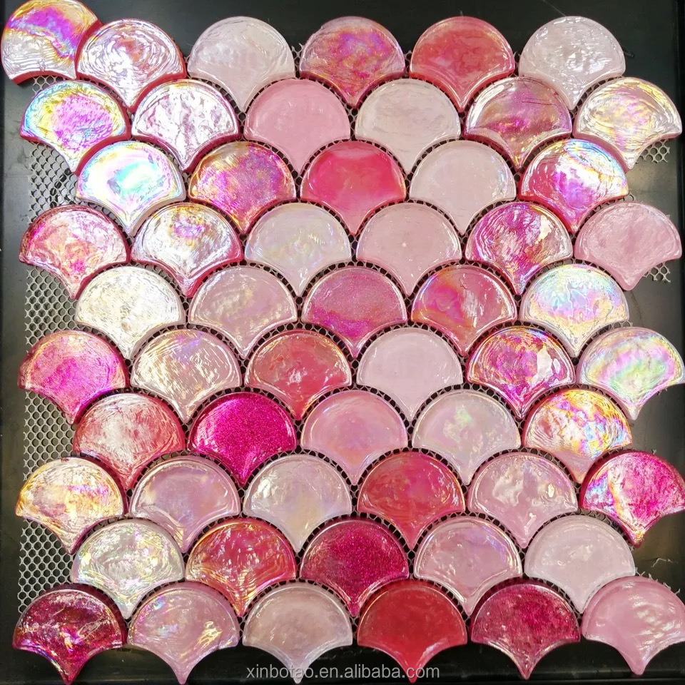 China Pink Gl Mosaic Tiles Manufacturers And Suppliers On Alibaba