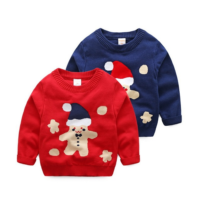 New Style christmas jumpers round neck knitwear for children chistmas kids pullover sweater