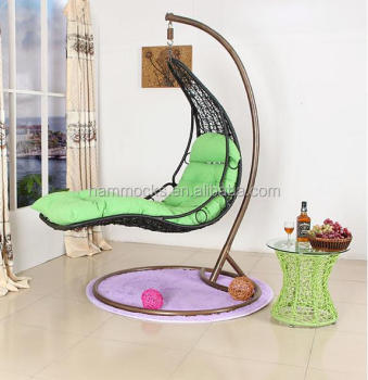 bedroom swing chair outdoor rattan swing hanging egg chair with stand for 10697