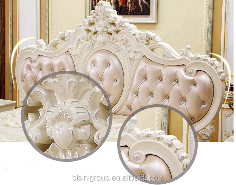 Bisini elegant laatste interieur bruiloft decoratie bed massief