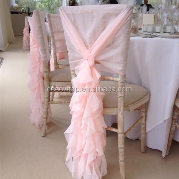 2016 Wholesale Fancy Chiffon Chiavari Chair Cover For Wedding Buy Chiffon C