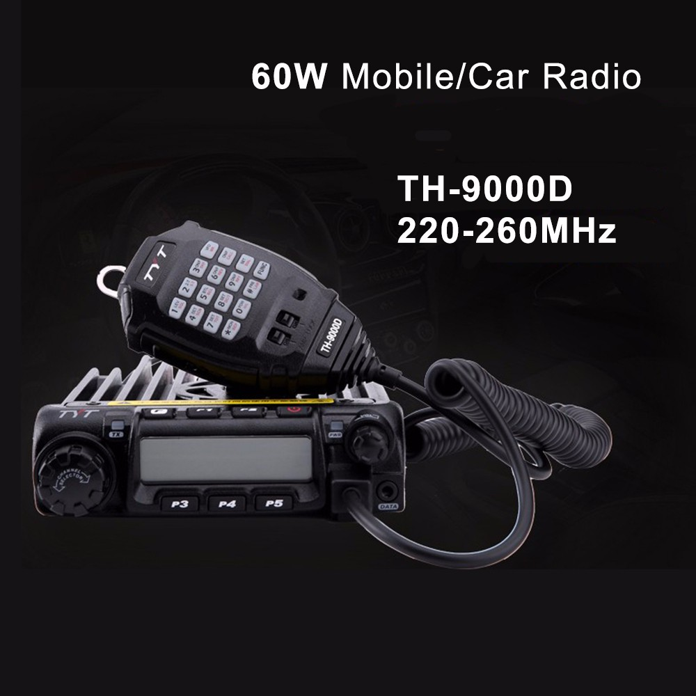 TYT TH-9000D Mobile Car 60W Amateur Ham Radio Transceiver 220-260MHz Scrambler
