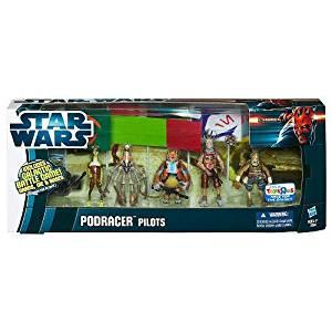 Star Wars 2012 Clone Wars Exclusive Battle Pack Podracer Pilots Dud Bolt, Mars Guo, Clegg Holdfast, Gasgano Teemto Pagalies by Hasbro