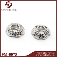 Silver plated gifts 925 sterling silver jewelry beads end cap