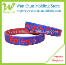 O.M.G! Sepcial design 1/2 inch customized debossed silicone wristband