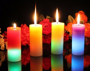 Incredibly Realistic Moving Flame Real Wax Battery Operated Led Candles