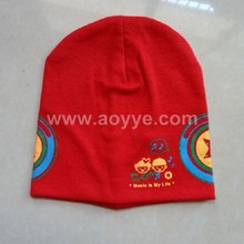Wholesale fashion Hair accessories baby summer beanie Baby night red cap