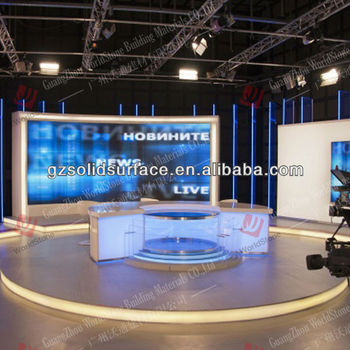 tv studio furniture. LED Light TV News Desk/furniture/TV Station Tv Studio Furniture