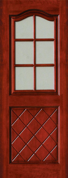 Arch Top Entryway Radius Arch Double Door Unit Mahogany