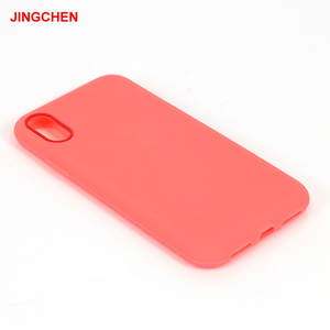 Soft case 100% silicone pink phone case for iphone x maker