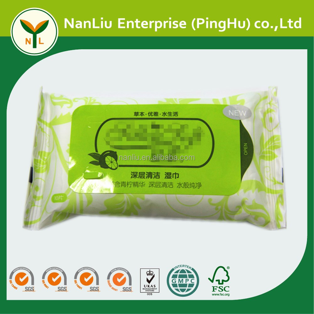 Perfume scented nonwoven cleaning wet tissue wipes 10P (OEM/ODM)
