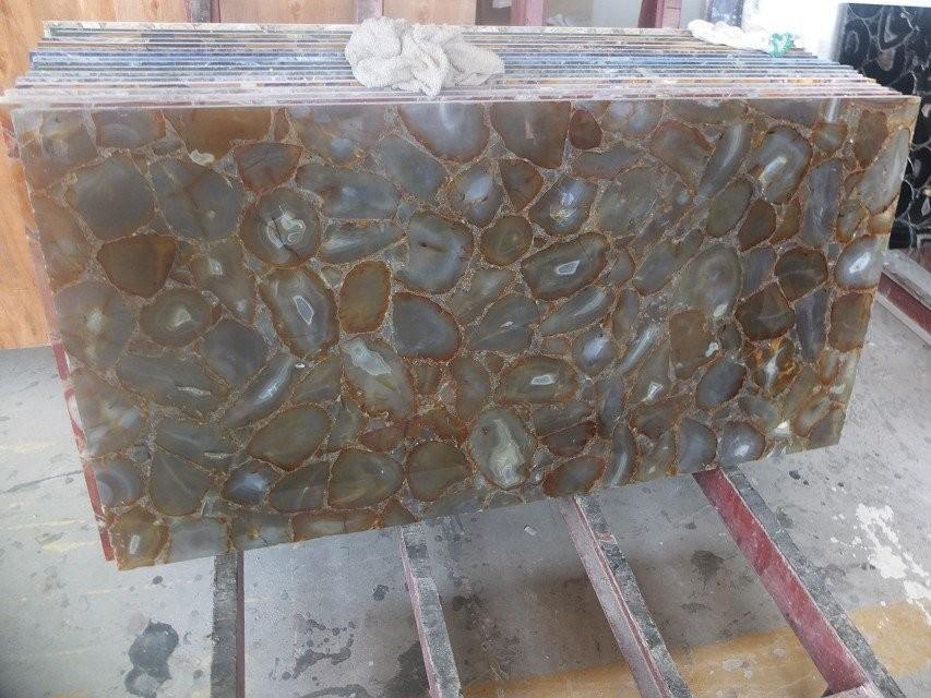 Mattonelle di pietra semi preziosa/agata lastra/granito gemma ...