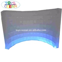 Cheap LED inflatable air wall inflatable photo booth wall for sale