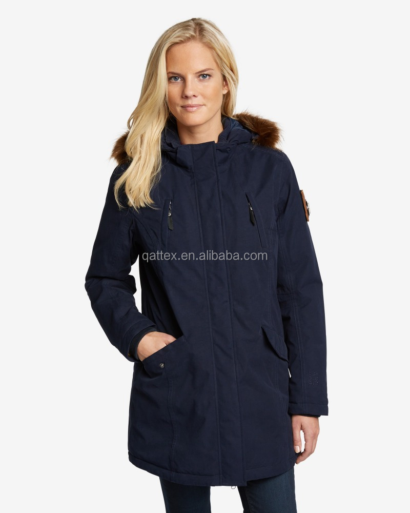 winter outdoor waterproof 2in1 parka with seam taped for lady