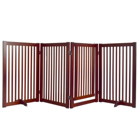 Free Standing Step Over Wooden Pet Gate/ Adjustable passageway dog fence -E