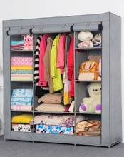 Popular Clothes Closet with Graceful Gray Color Wardrobe for Clothes