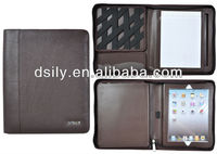Brown genuine leather ifolio,case for ipad,functional portable document case