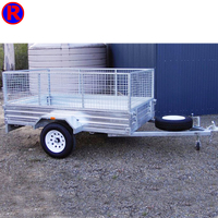 Good quallity single axle galvanized camp cage box trailer