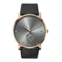 New 2018 Hot Sell Wholesale Custom Logo Super Thin Wrist Watches Men Women