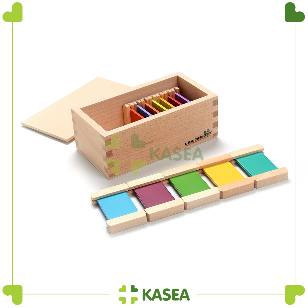 Educational Materials - Premium Wooden Rainbow color tablest (4th Box)