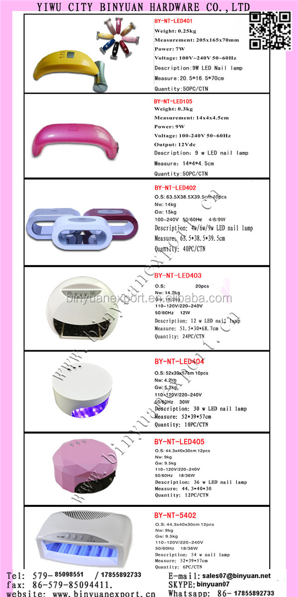 2018 newest 36W Small Size UV gel nail Lamp with UVnail gel dry