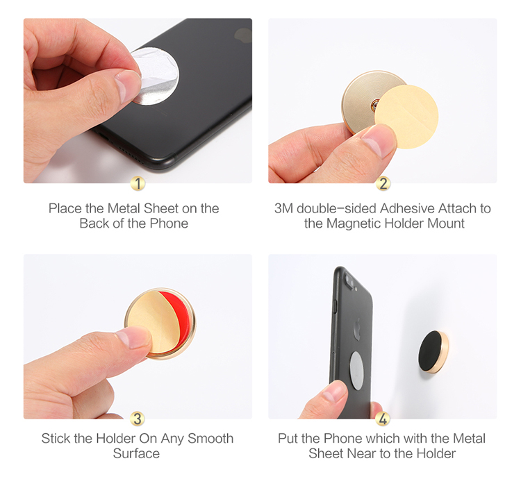 Free Shipping Magnetic Car Phone Holder Stand FLOVEME Multifunctional Universal Magnet Wall Mobile Phone Holder