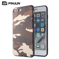 hot selling products soft tpu sticker pu lagging army camouflage phone case for iphone 8 plus iphone8 cases