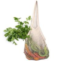 2019 BSCI free sample 100% organic reusable produce cotton mesh net bag for food