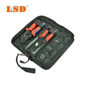 DN-K02C crimping tools kit with 0.25-2.5mm2 crimping tool,cable cutter and replaceable dies cable crimping tool kit