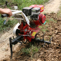 belt drive gas hand soil digging machine with many implement
