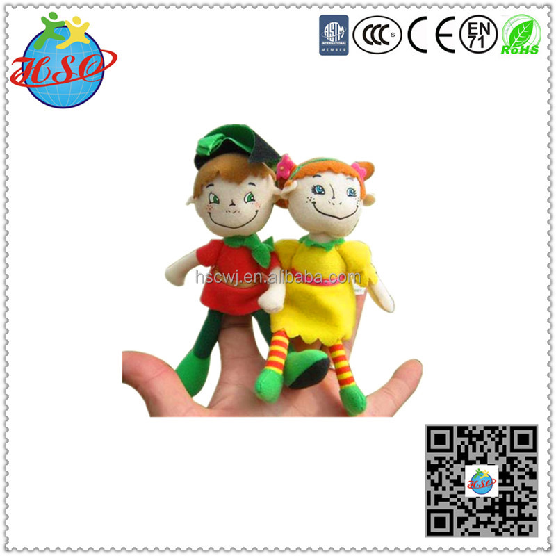 cute small plush finger puppet toys
