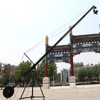 Factory Supply Video Shooting Equipment 12m 2-Axis Pan Tilt Head Triangle Jimmy Jib Camera Crane For Sale