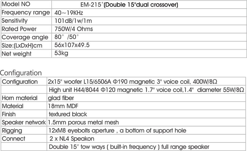 Dual Speaker 15