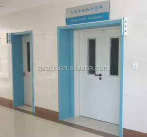 OKM Hospital door with rubber seal, pvc doors and frames air tight