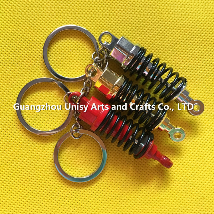 2017 New custom more color shock absorber keychain