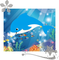 Factory supply dolphin design 5d diy diamond painting