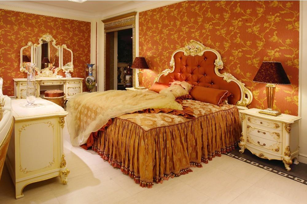 Francés Elegante Talla De Madera Dormitorio,Casa De Lujo Dorado ...